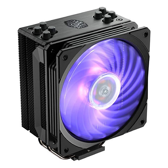 Amazon Com Cooler Master Hyper 212 Rgb Black Edition Cpu Air Cooler W Sf120r 120mm Rgb Fan 4 Continuous Direct Contac Cooler Master Air Cooler Black Edition
