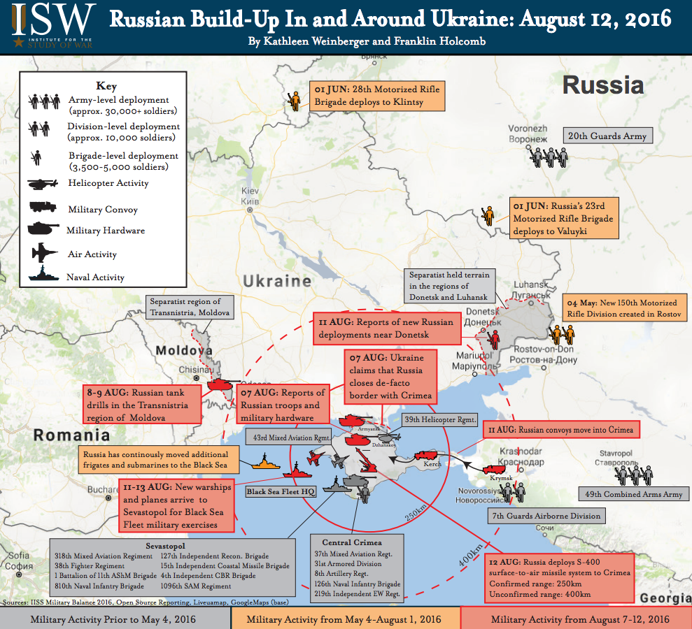 This Map Shows The Alarming Russian Military Buildup Encircling