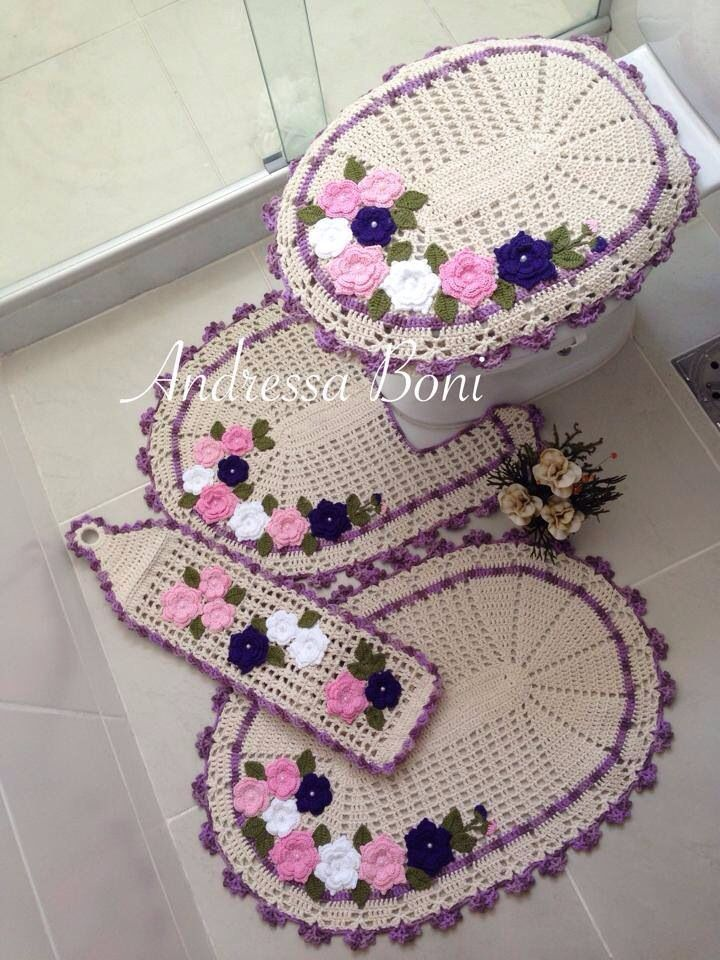 crochet pesquisa google croch pinterest salle de bains salle et crochet. Black Bedroom Furniture Sets. Home Design Ideas