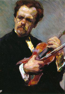 Lasar Segall - Figura de homem com violino, c. 1909