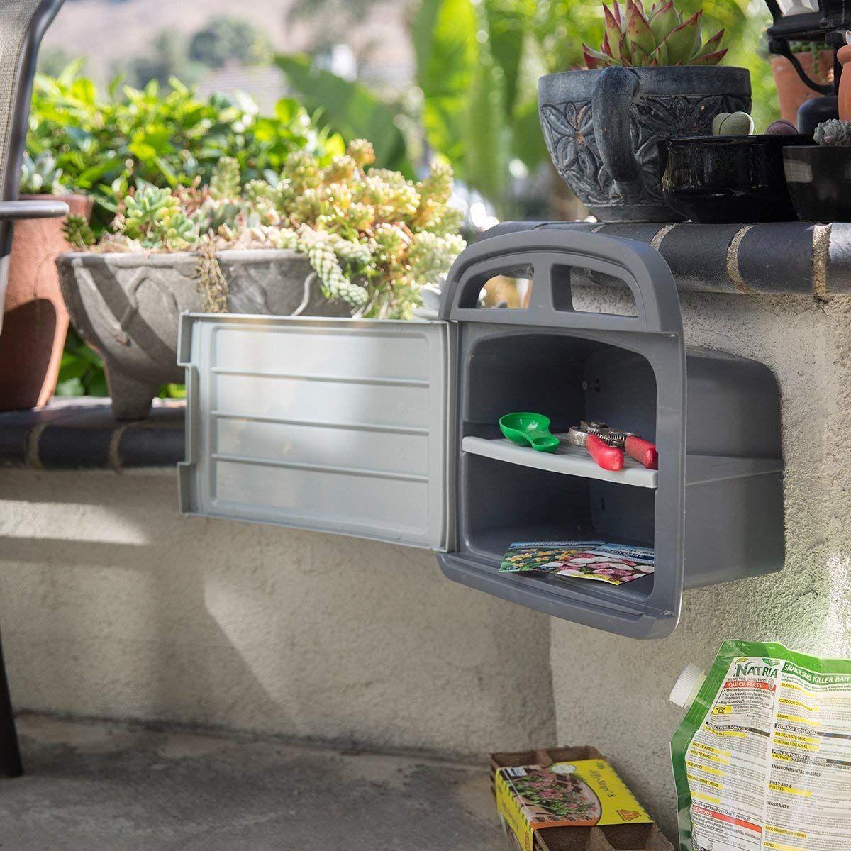 XtremepowerUS Garden Water Hose Reel Hanger Storage Box