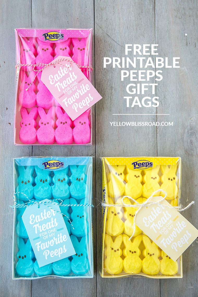Peeps easter gift idea with free printables free printable gift free printable peeps easter gift tags use these free printable gift tags to make sweet negle Gallery