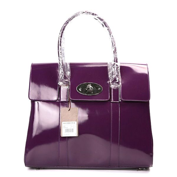 56088c9bb0f2 Mulberry Standard Bayswater Patent Shoulder Bag Purple Sale ...