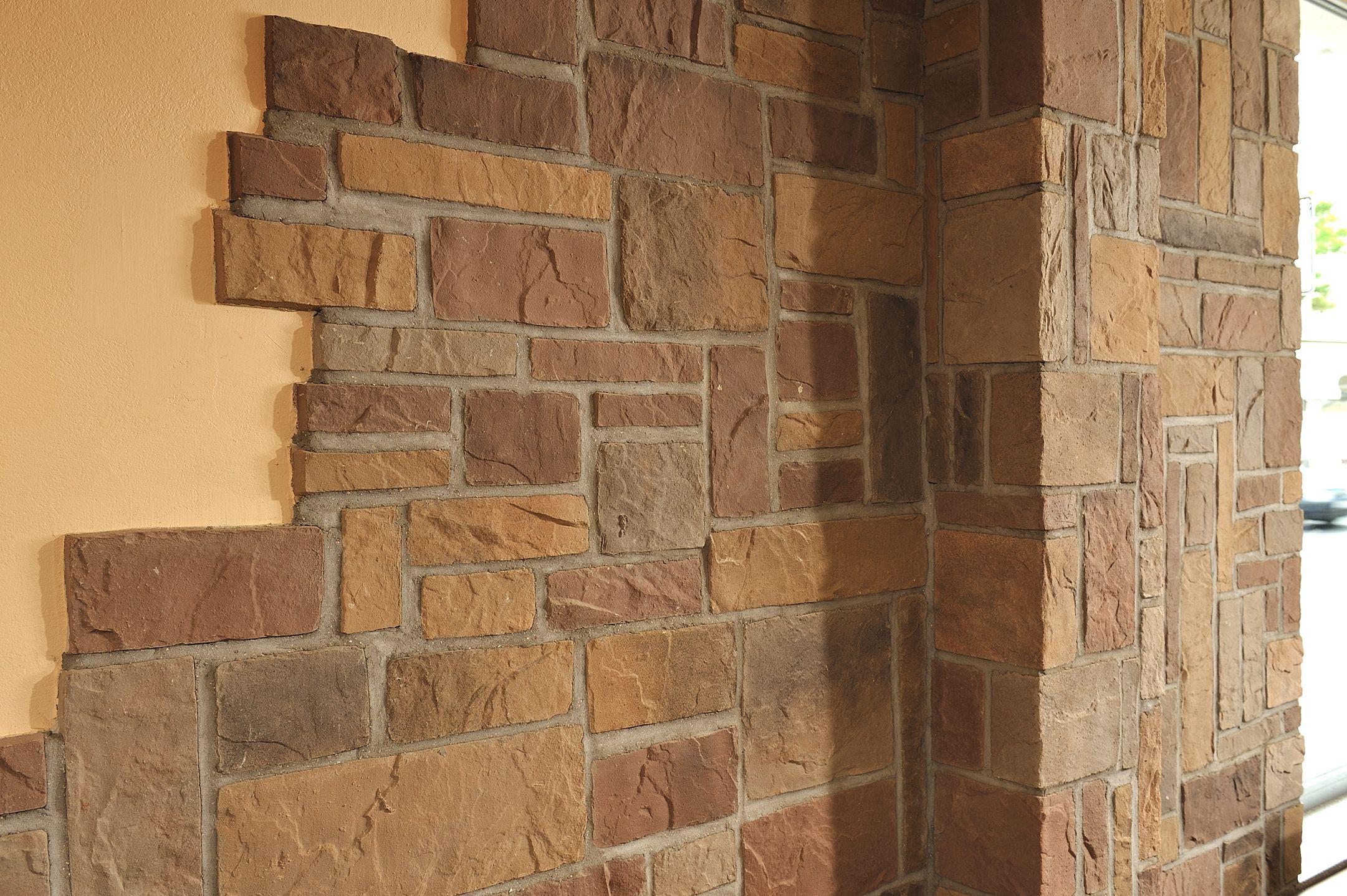 Die wandverblender der linie murok rustic von de ryck by weser sind durch ihre form und - Wandgestaltung stein ...