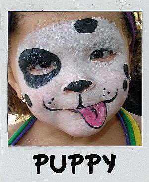 Boy Or Girl Puppy Face 3 Painted Faces Puppy Face Paint