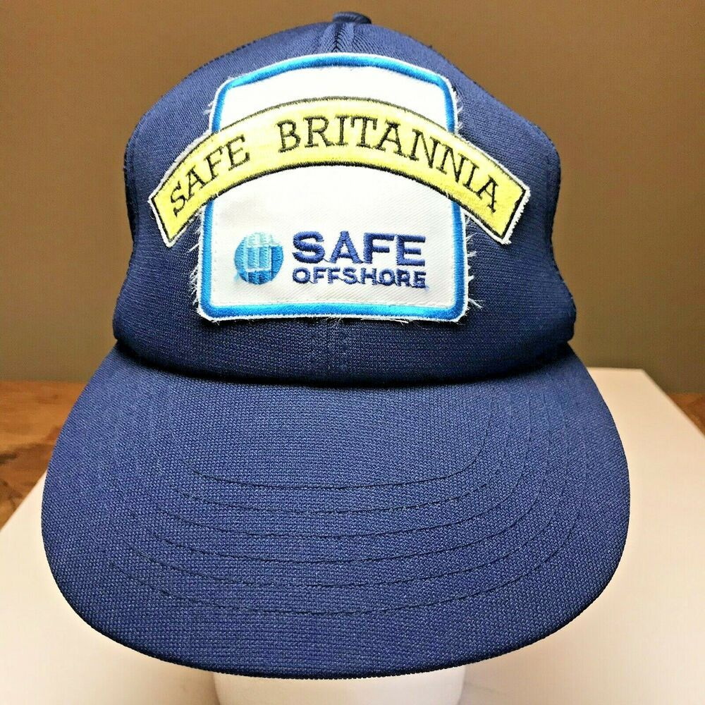 13d4a8c557b Safe Britannia Ball Cap One Size Snapback Safe Offshore Mesh Trucker Style  Hat  EsseltePresentreklam  Trucker