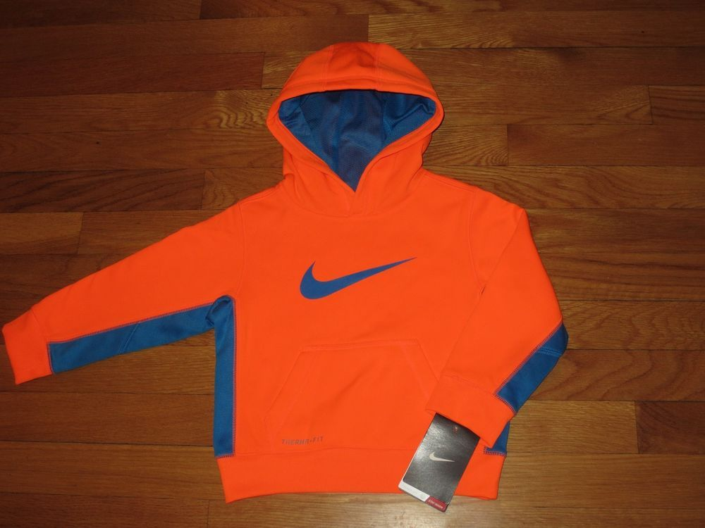 dea45f6f6c43 NEW NIKE THERMA FIT BOY S 2   2T HOODIE NEON ORANGE NEW NWT  NIKE   HOODIEJACKET