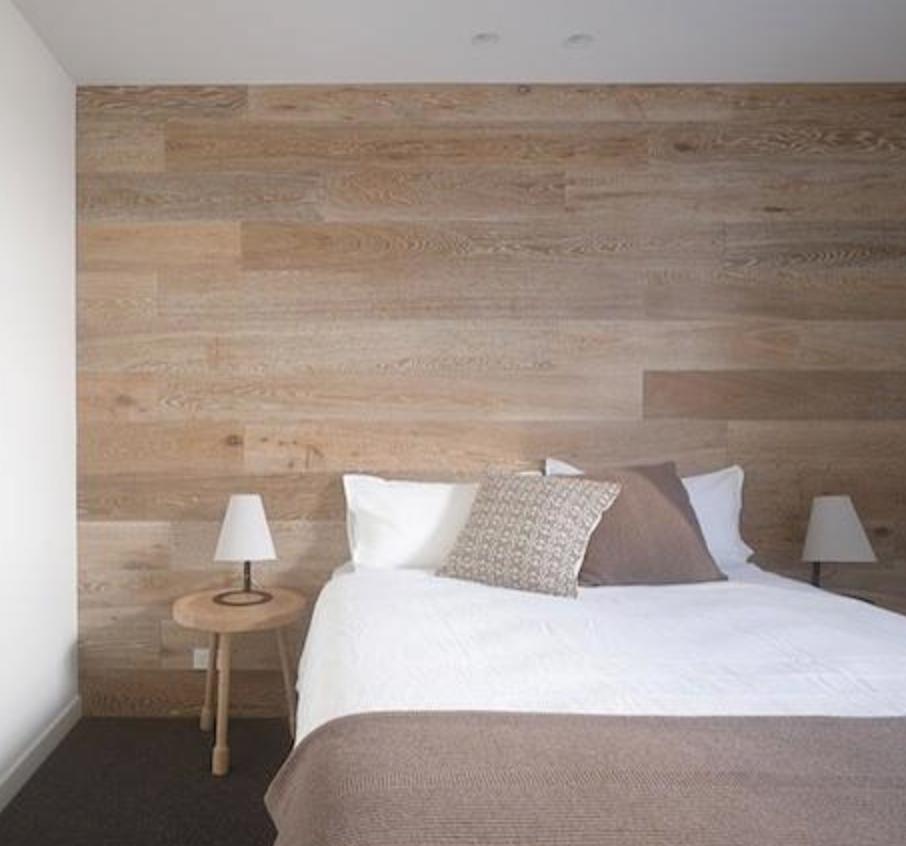 Muros revestidos en madera como cabeceras!!   Pared dormitorio ...