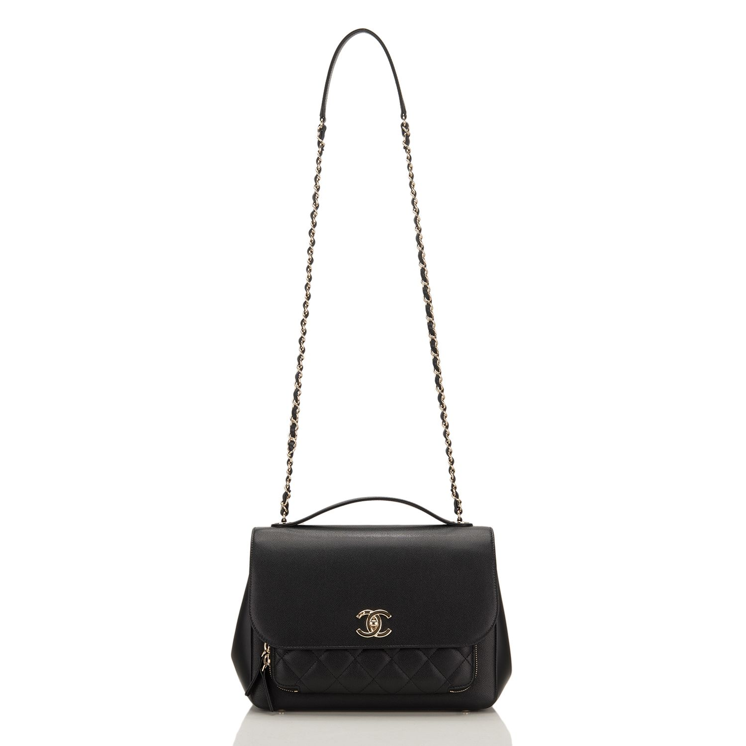 1929d93ae9ec Chanel Black Business Affinity Caviar Classic Flap Bag Image 1 ...