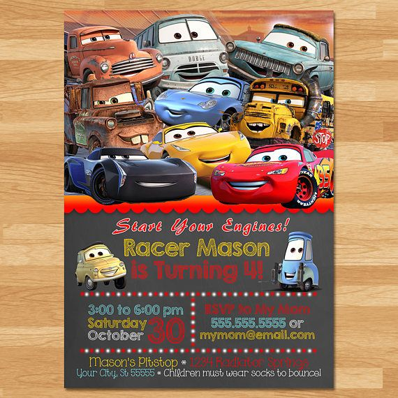 Disney Cars 3 Invitation