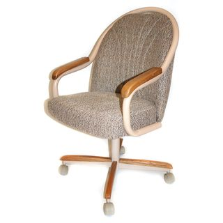Casual Dining Cushion Swivel And Tilt Rolling Caster Chair (Roller Dining  Chair), Brown (Metal)