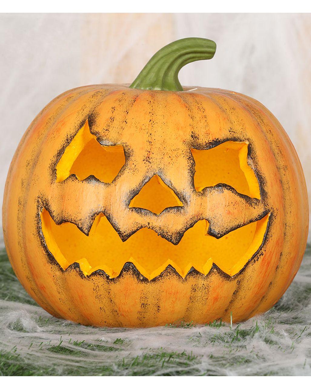 Deko Kurbis Halloween 20cm Pumpkin Kaufen Horror Shop Com Halloween Deko Figuren Halloween Figuren Halloween