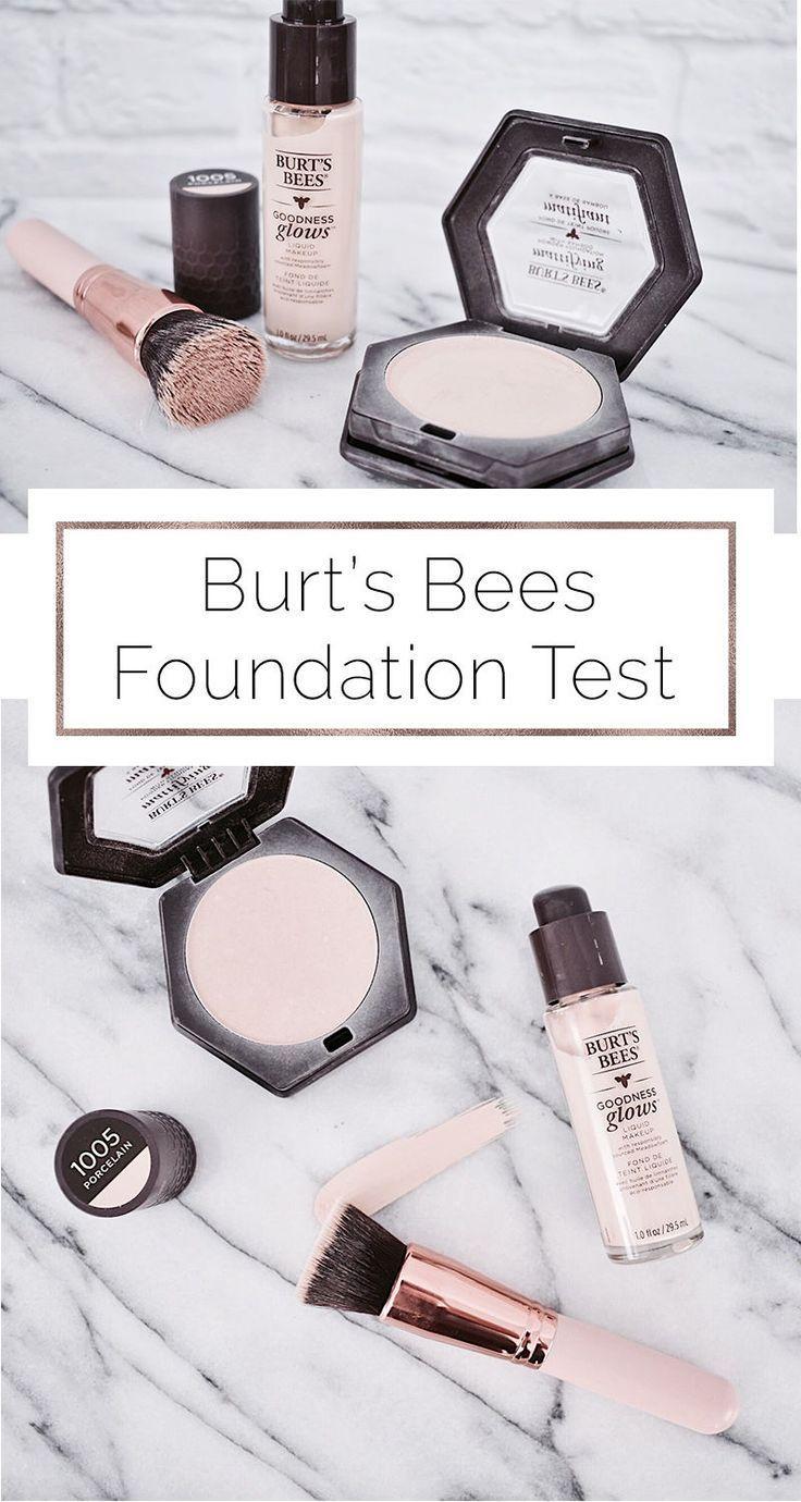 Burt's Bees Goodness Glows Foundation Test Burt's bees