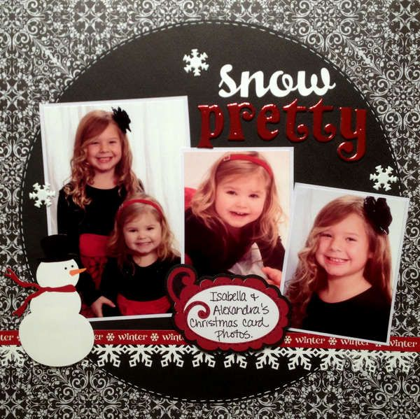 """Snowflake' Scrapbook page idea- change to snow cute for my boys."