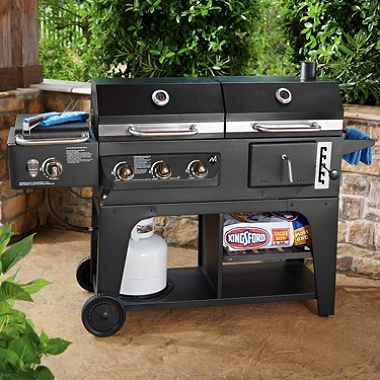 Your Member S Mark Gas And Charcoal Hybrid Grill Comes With Everything You Need For Next Barbeque An Infrared Searing Side Burner 3