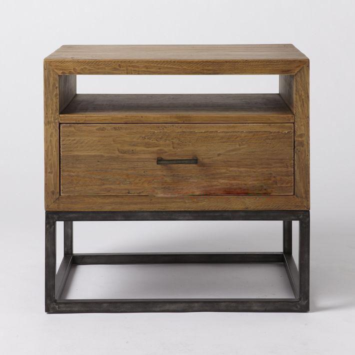 Retro americana de noche de madera maciza IKEA mesa auxiliar de ...