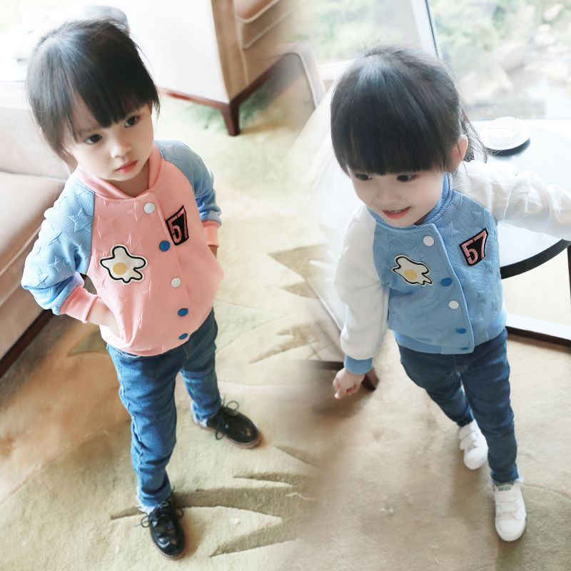 a1b25ddd1 TUTUYU Girls Coat Spring and Autumn Collar Jacket Sweatshirt Outwear ...