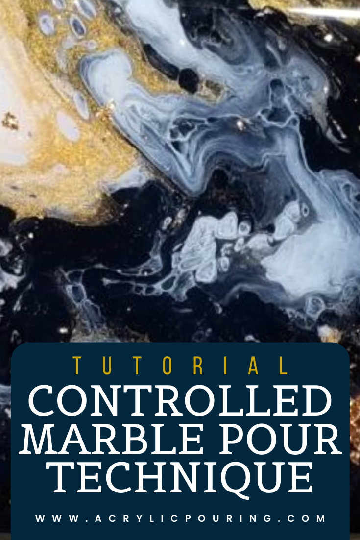 Learn Acrylic Pouring: Tutorials   Controlled Marble Pour Technique