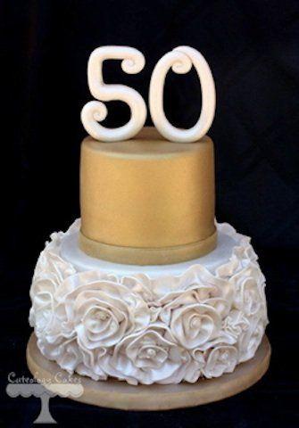 Escolha O Bolo Para Sua Festa De 50 Anos Bolo De 50 Anos Bolo