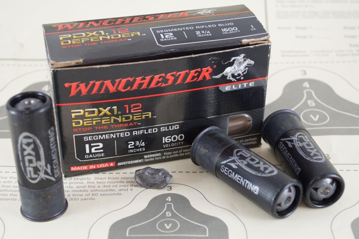 Ammo Test: Winchester PDX1 Defender Segmenting Slug, Winchester Ammunition's PDX1 Defender Segmenting Slugs.