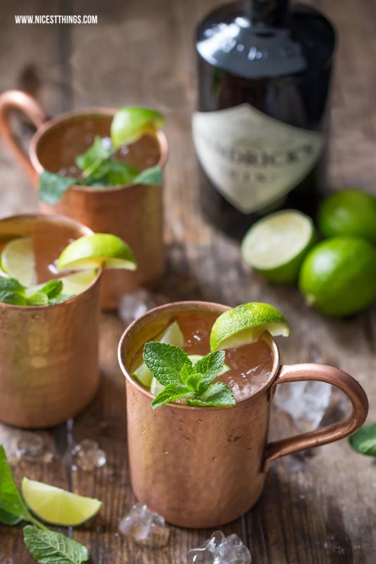 Moscow Mule Rezept mit Gin im Kupferbecher #bestgincocktails