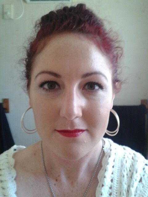 Wedding make up, red lipstick