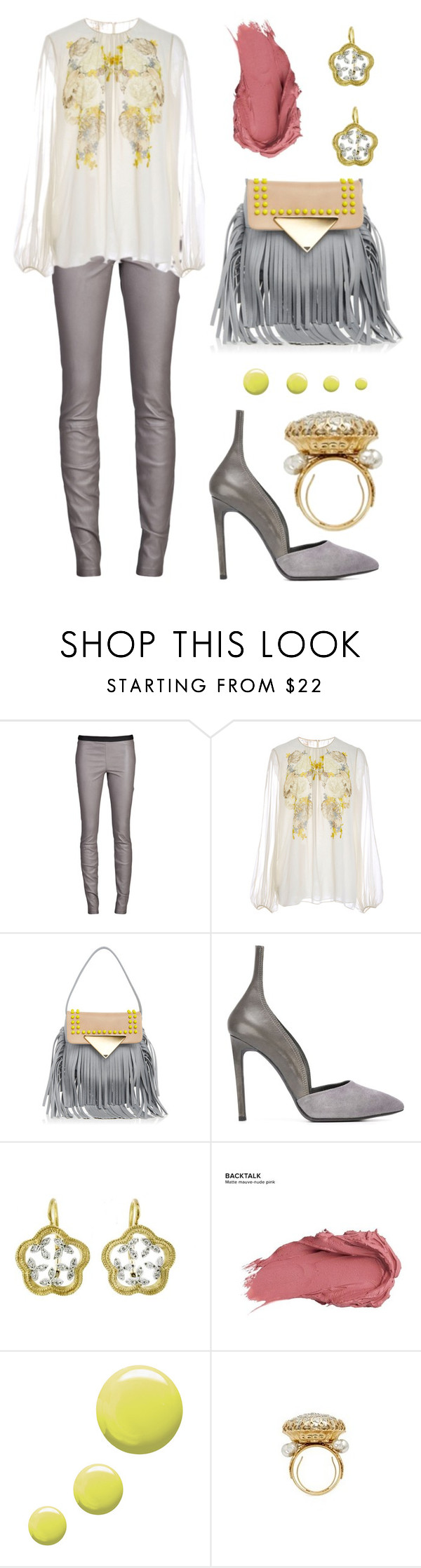 """Pretty Leather"" by dominosfalldown ❤ liked on Polyvore featuring Theory, Giambattista Valli, Sara Battaglia, A.F. Vandevorst, Cathy Waterman, Urban Decay, Topshop and Miriam Haskell"