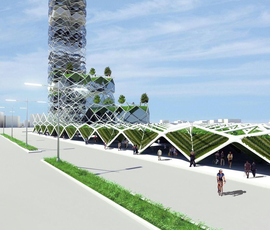 Vertical Park Jorge Hernandez De La Garza 2009 Coyoacan Mexico Eco Architecture Green Architecture Parking Design