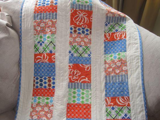 Free Easy Beginner Quilt patterns for boys | Stacked Coin Baby ... : baby boy quilt patterns for beginners - Adamdwight.com