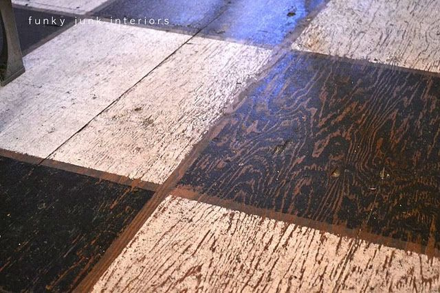Pin By Michelle At Pine Needle Hill On Downstairs Makeover Ideas Painted Plywood Floors Painted Wood Floors Flooring