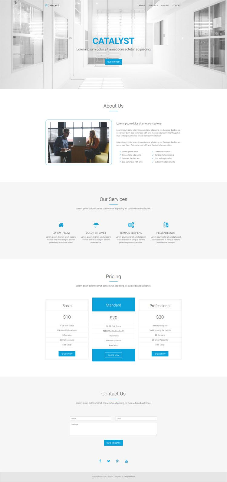 Free, clean and multipurpose one page HTML5 template built with ...