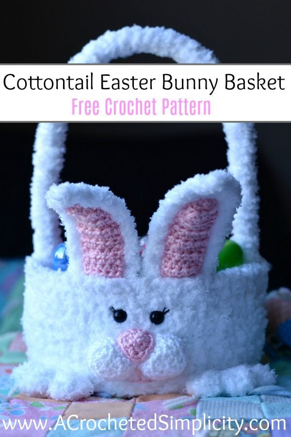 Free Crochet Pattern - Cottontail Easter Bunny Basket   Conejo ...