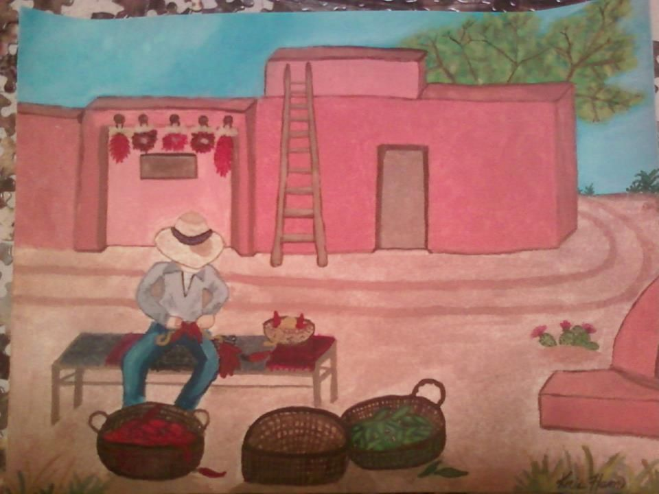 Chile Man watercolor by Kristina Ham