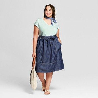 cdf4a217ffb Women s Plus Size Monterey Pocket V-Neck Short Sleeve T-Shirt - Universal  Thread  Navy 1X  Pocket