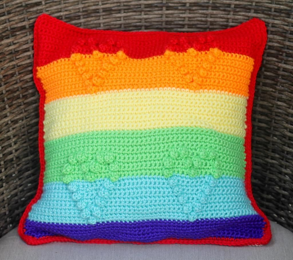 Rainbow pillow rainbows and patterns