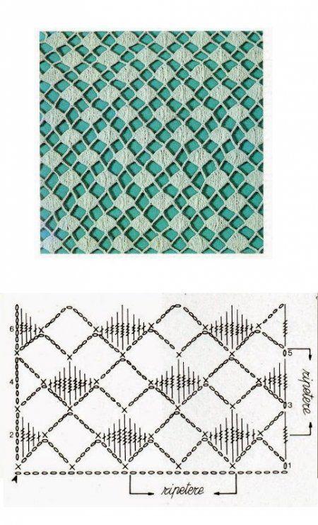 Классические ажурные узоры крючком   Crochet   Pinterest   Ganchillo ...