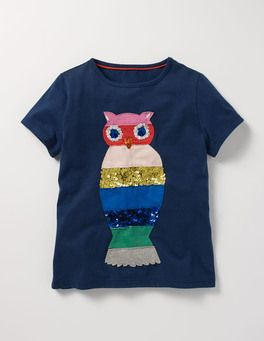 Sequin Rainbow T-shirt Boden