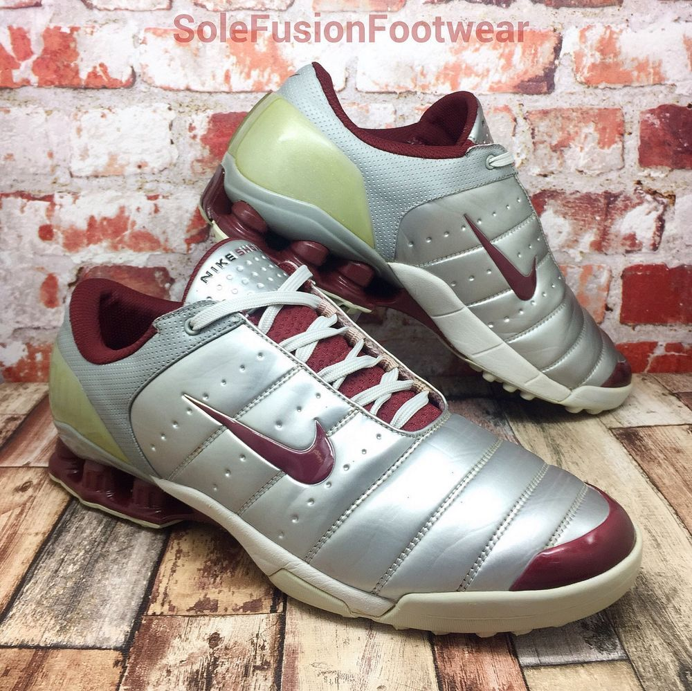 detailed look c1b4b 800d4 ... indoor soccer shoes Nike Mens SHOX Secutor Trainers Silver sz 11 Soccer  Sneaker US 12 EU 46 Rare VTG ...