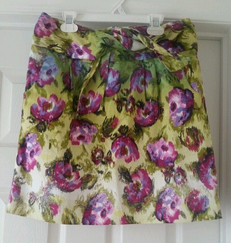Women's size 6 Adrienne Vittadini  floral skirt #AdrienneVittadini #StraightPencil