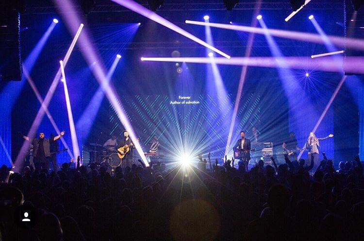 Stage Designing Lighting Band Worship Church Hillsong