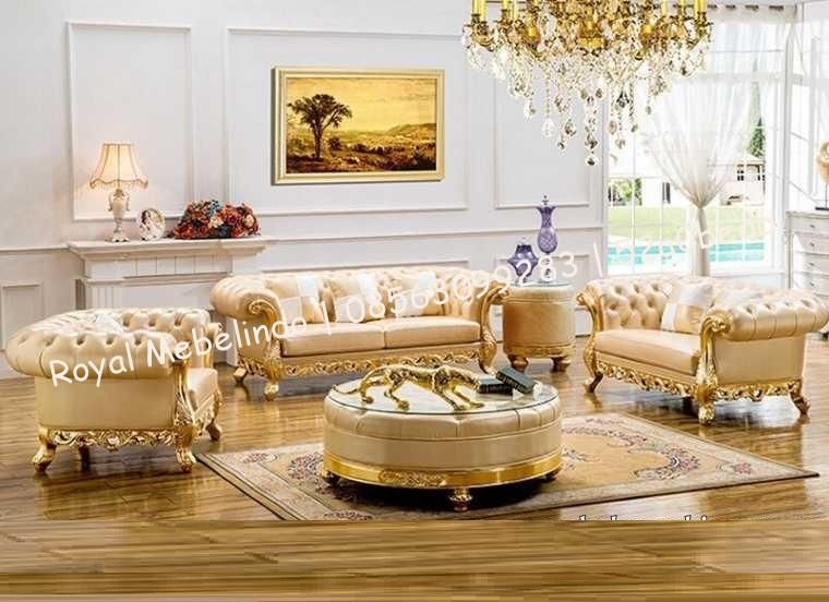 Kursi Tamu Sofa Mewah Warna Gold harga kursi tamu mewah model - barock mobel versailles sofa