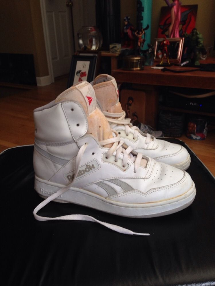 Vintage Reebok Basketball Shoes Mens Sz 8 5 Classic Retro Reebok Shaq Kemp  White  73036d95d