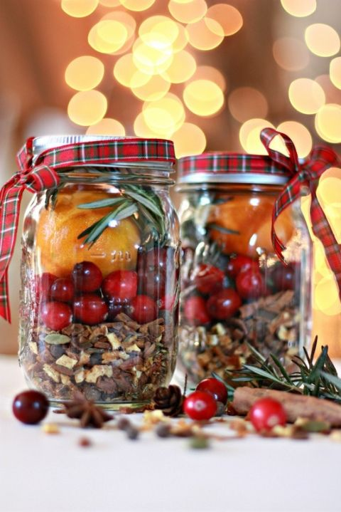 Christmas Jar Mulling Spices gift ideas Pinterest Christmas