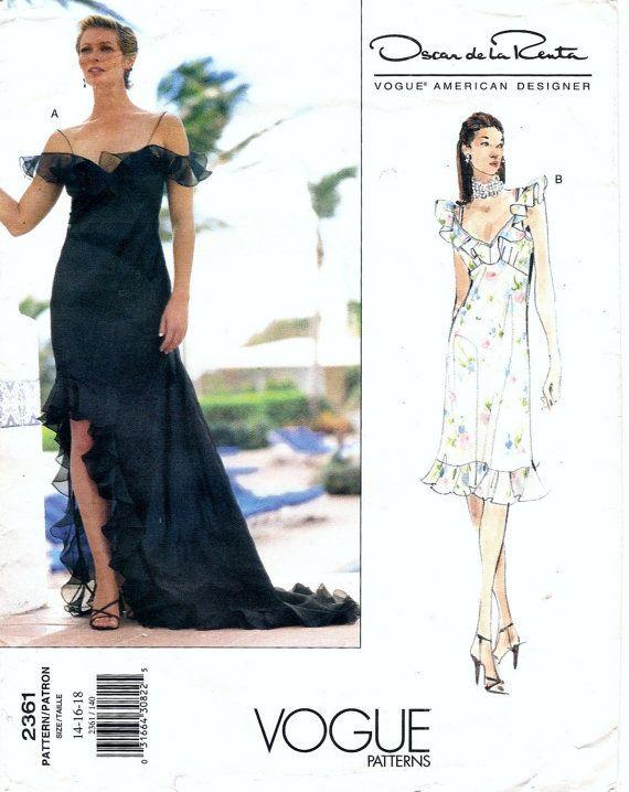 Vogue 2361 Oscar de la Renta Designer Evening by DejaVuPatterns ...