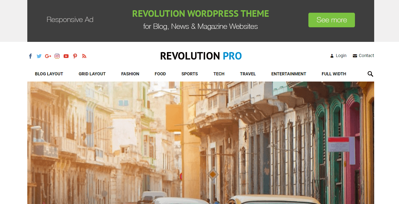 Check out the complete revolution WordPress theme review