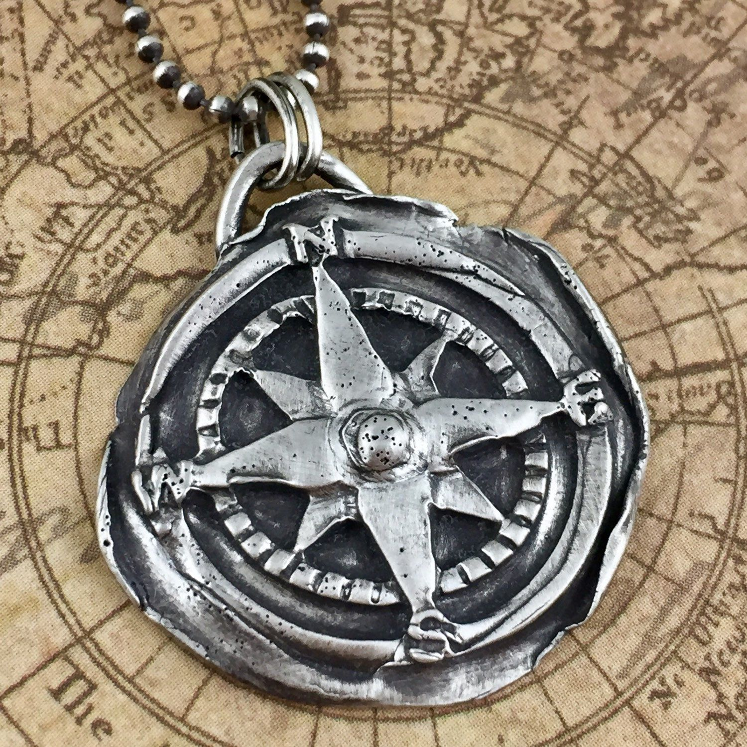 Graduation T Unicompass Necklace Compass Rose