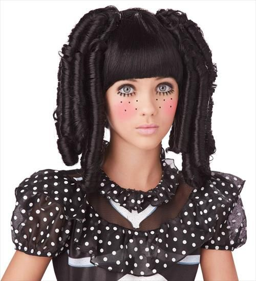 Baby Doll Hairstyles For Halloween Ideas Hair Trends 2014 Doll Makeup Halloween Doll Halloween Costume Doll Costume
