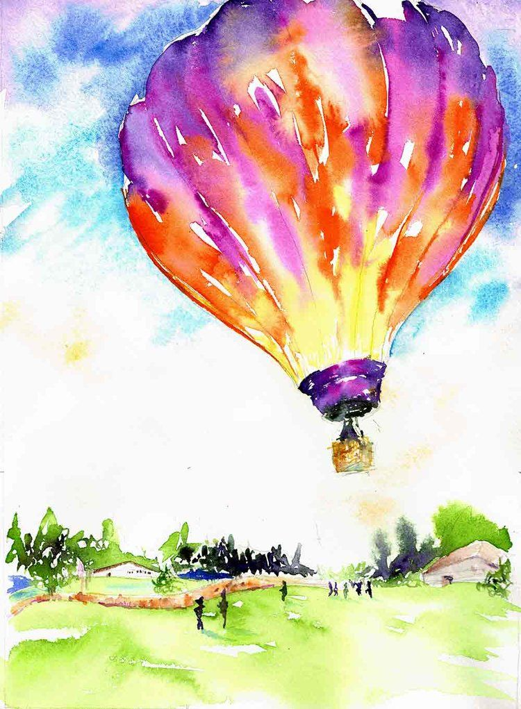 A Celebration Of Hot Air Balloons In Watercolour Balloon