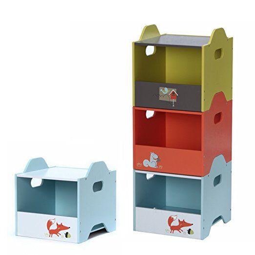 Amazon Com Labebe Wooden Stackable Toy Box Storage Organizer