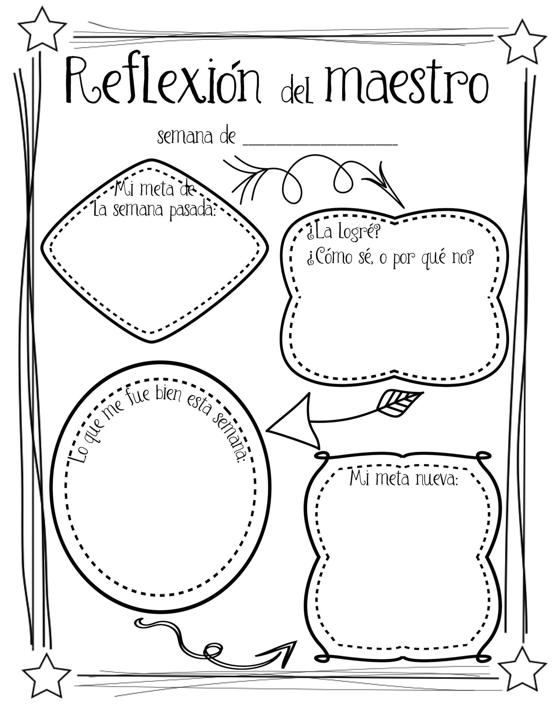Bilingual Teacher Reflection Amp Goals